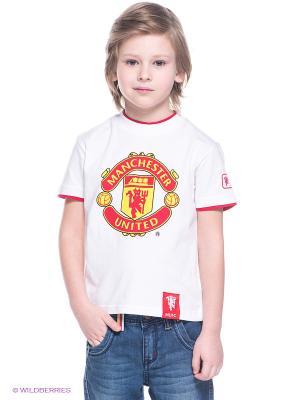 Футболка Manchester United FC Atributika & Club. Цвет: белый, красный