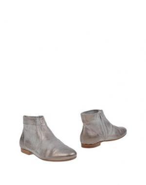 Полусапоги и высокие ботинки DONNA PIÙ. Цвет: серебристый