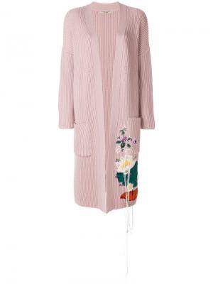 Кардиган с вышивкой Piccione.Piccione. Цвет: розовый и фиолетовый