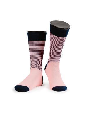 Twins 2 носки мужские MARREY. Цвет: розовый, темно-синий