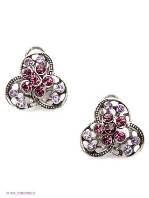 Серьги Royal Diamond. Цвет: фиолетовый
