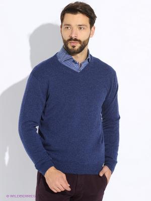 Пуловер Maurizio Baldassari. Цвет: темно-синий, темно-серый, темно-фиолетовый