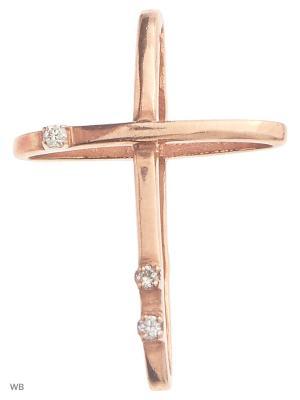 Ювелирная подвеска с бриллиантами KAINOS. Цвет: золотистый