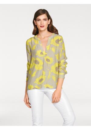 Блузка ASHLEY BROOKE by Heine. Цвет: серо-коричневый/желтый