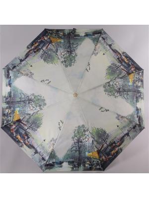 Зонт Trust. Цвет: серый, желтый