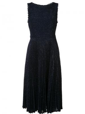 Платье без рукавов Ally Zac Posen. Цвет: синий