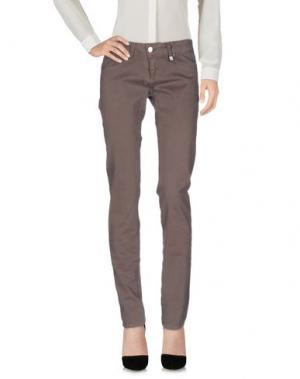 Повседневные брюки FLY GIRL. Цвет: голубиный серый