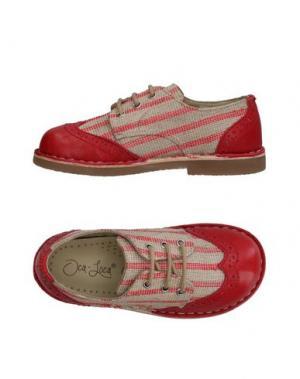Обувь на шнурках OCA-LOCA. Цвет: красный