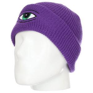 Шапка  Sect Eye Dock Beanie Purple Toy Machine. Цвет: фиолетовый