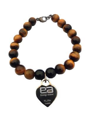 Браслет Crystal Onyx Energyarmor. Цвет: коричневый