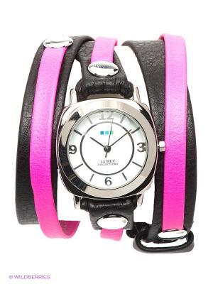 Часы La Mer Collections. Цвет: серебристый, розовый, черный