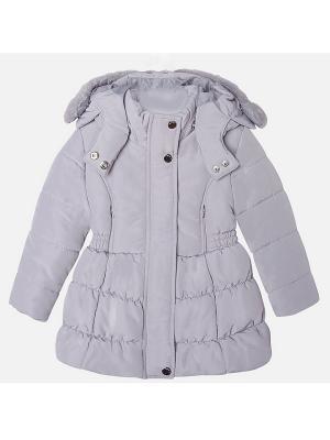 Куртка Mayoral. Цвет: серебристый