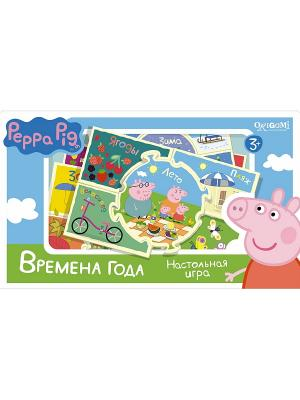 Наст.игра Времена года Peppa Pig. Цвет: голубой