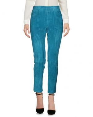 Повседневные брюки ENES. Цвет: лазурный