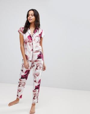 Ted Baker Пижамные брюки с принтом роз B By. Цвет: розовый