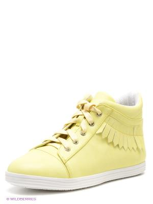 Кеды Bagira. Цвет: желтый