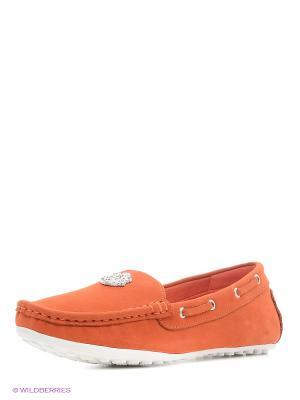 Мокасины BRULLOFF. Цвет: оранжевый
