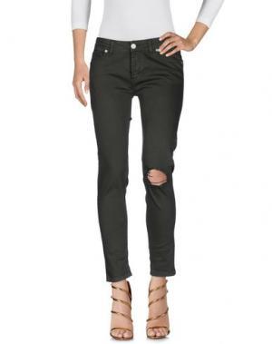 Джинсовые брюки UFFICIO 87. Цвет: зеленый-милитари