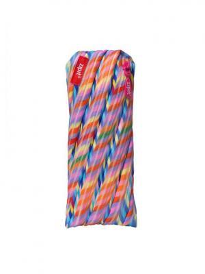Пенал-сумочка COLORS POUCH, цвет мульти полоски ZIPIT. Цвет: розовый, голубой