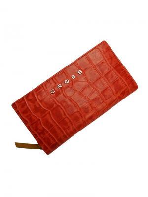 Клатч-кошелёк  Bebe Coco кожа наппа ,фактурная Cross. Цвет: бежевый, красный