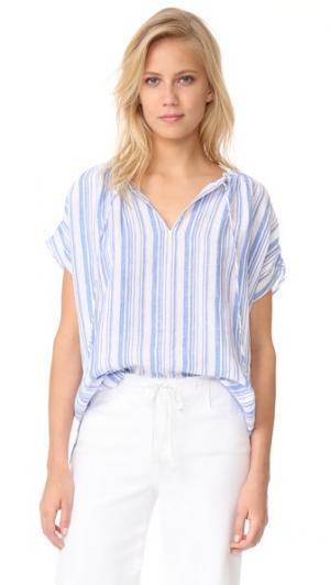Блуза  Bu AYR. Цвет: синяя/белая полоска