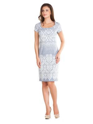 Платье Femme. Цвет: серый, белый