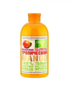 Пена д/ванн тропический mango 500мл Organic Shop. Цвет: бежевый