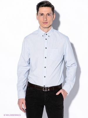 Рубашка INCITY. Цвет: голубой, белый