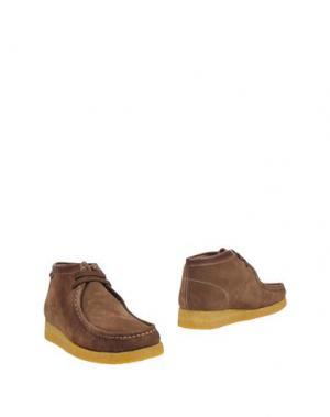Полусапоги и высокие ботинки SEBAGO. Цвет: коричневый