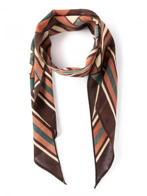 Полосатый шарф Biba Vintage. Цвет: многоцветный