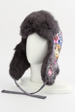 Шапка-ушанка Romax. Цвет: серый