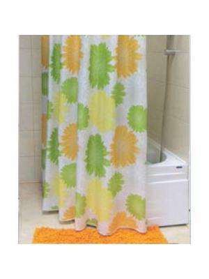 Штора для ванной (Bursting) 180*200 Bath Plus. Цвет: салатовый, желтый, оранжевый