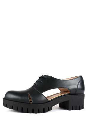 Туфли BERG. Цвет: черный, зеленый