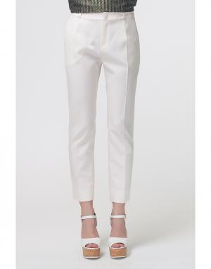 Однотонные брюки Bouchra Jarrar. Цвет: молочный