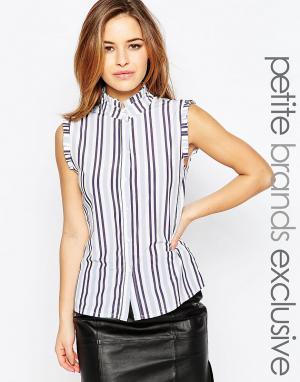 Alter Petite Рубашка в полоску с оборками на плечах. Цвет: мульти