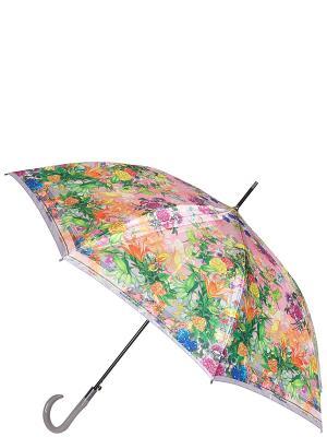 Зонт-трость Eleganzza. Цвет: зеленый, оранжевый, розовый