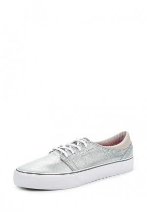 Кеды DC Shoes. Цвет: серебряный