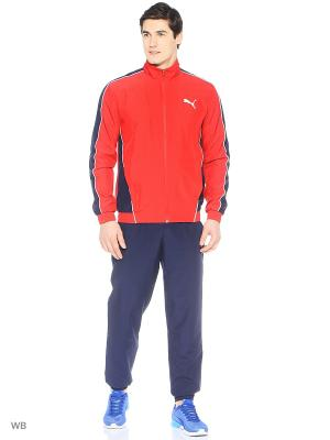 Костюм спортивный  Flash Woven Suit op Puma. Цвет: красный