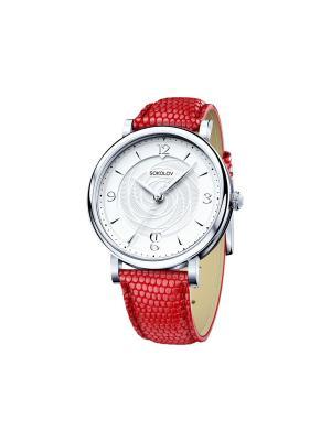 Часы ювелирные коллекция Enigma SOKOLOV. Цвет: красный, белый