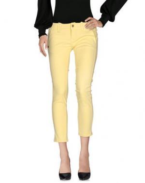 Повседневные брюки DANIELE ALESSANDRINI. Цвет: желтый