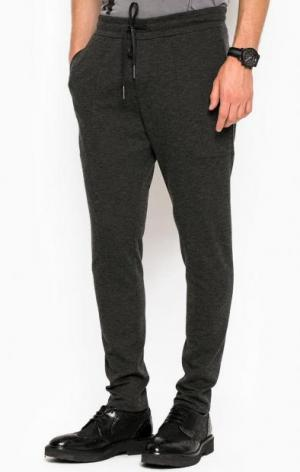 Зауженные брюки из вискозы DRYKORN. Цвет: серый