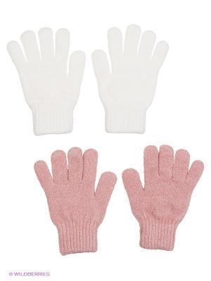 Перчатки - 2 пары FOMAS. Цвет: белый, розовый