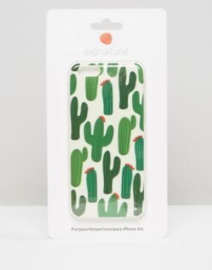 SIGNATURE Чехол для Iphone 6 с принтом кактуса. Цвет: зеленый