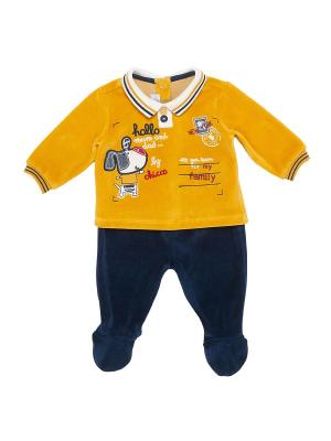 Комплект одежды CHICCO. Цвет: желтый