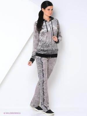 Спортивный костюм EZE. Цвет: серый, черный