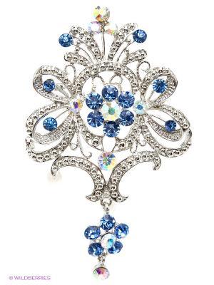 Брошь Vittorio Richi. Цвет: голубой