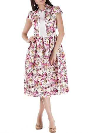 Платье Mannon. Цвет: желто-розовый