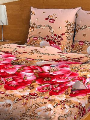Комплект постельного белья Letto. Цвет: розовый, бежевый