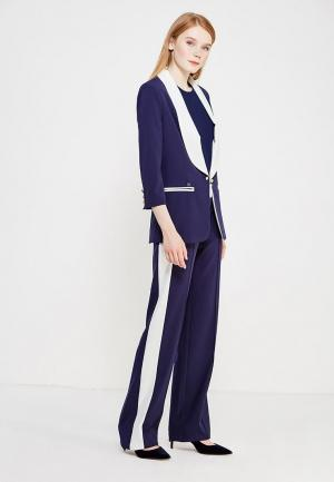 Комплект жакет и брюки Mazal. Цвет: синий