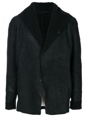 Куртка с капюшоном и необработанными краями Salvatore Santoro. Цвет: чёрный